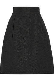 Temperley London Callas jacquard A-line skirt