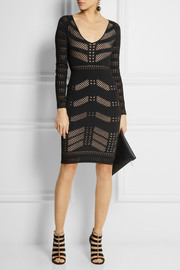 Temperley London Emblem stretch cotton-blend dress