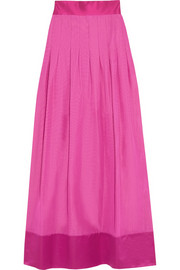 Temperley London Palais cotton-blend taffeta maxi skirt