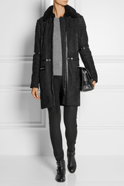 Belstaff Caldicot leather-trimmed shearling coat