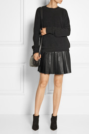 Belstaff Kaddington pleated leather mini skirt