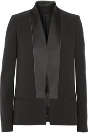 Silk and wool-blend tuxedo jacket