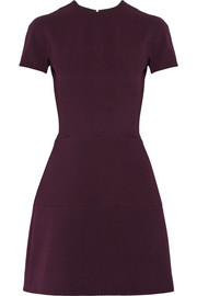 Victoria Beckham Silk and wool-blend mini dress