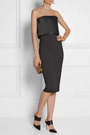 Victoria Beckham Stretch cotton-blend and satin dress