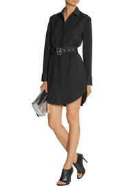 Victoria Beckham Felt-trimmed cady shirt dress
