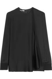 Victoria Beckham Split-back satin-crepe top