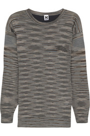 M Missoni Silk-paneled wool-blend sweater