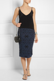 M Missoni Patterned stretch-knit pencil skirt