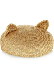Eugenia Kim Caterina metallic woven hat