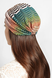 Missoni Metallic crochet-knit turban