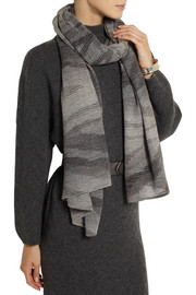 Missoni Metallic knitted wrap scarf