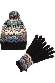 Missoni Wool-blend beanie and gloves set