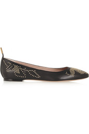 Chloé Studded leather ballet flats