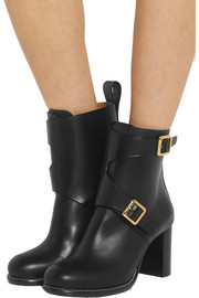 Chloé Buckled leather ankle boots