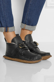 Chloé Shearling-lined leather moccasins