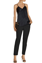 Narciso Rodriguez Stretch-wool gabardine straight-leg pants