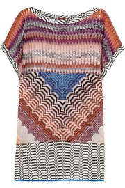 Missoni Metallic crochet-knit tunic