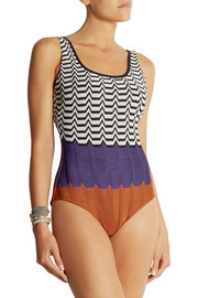 Missoni Crochet-knit swimsuit