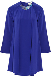 3.1 Phillip Lim Embellished silk-crepe mini dress