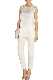 3.1 Phillip Lim Embellished hammered-silk top
