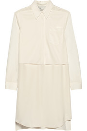 3.1 Phillip Lim Layered silk-twill and stretch-satin shirt dress