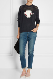 3.1 Phillip Lim Appliquéd cotton and cashmere-blend sweater