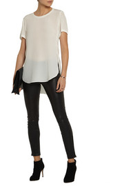 3.1 Phillip Lim Silk crepe de chine T-shirt