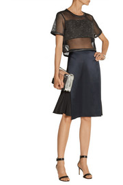 3.1 Phillip Lim Wrap-effect silk and satin skirt