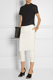 3.1 Phillip Lim Skirt-effect satin straight-leg pants