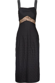 Jason Wu Embellished cady midi dress