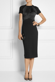 Jason Wu Satin-trimmed jersey dress