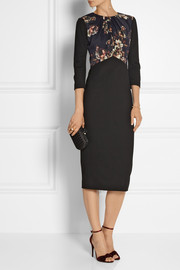 Jason Wu Floral-print crepe and jersey dress