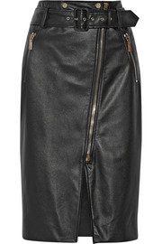 Jason Wu Textured-leather pencil skirt
