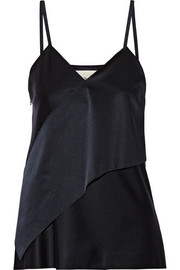 3.1 Phillip Lim Wrap-effect satin top