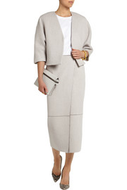 Adam Lippes Wool and cashmere-blend midi skirt