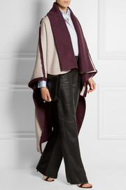 Adam Lippes Reversible wool and cashmere-blend cape