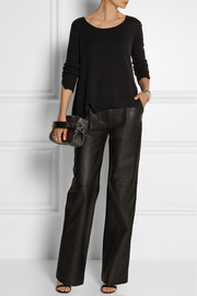 Adam Lippes Double-faced leather wide-leg pants