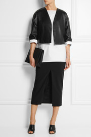 Adam Lippes Double-faced stretch-cotton midi skirt