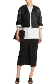 Adam Lippes Cropped leather jacket