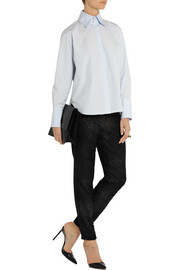 Adam Lippes Guipure lace tapered track pants