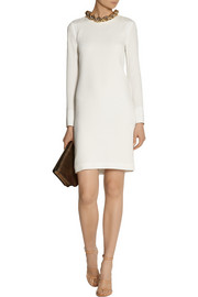 Adam Lippes Chain-embellished silk-georgette dress