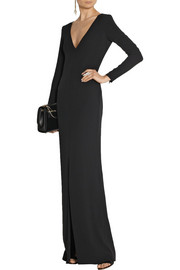 Adam Lippes Chain-embellished silk-georgette gown