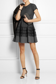 REDValentino Point d'esprit and jersey mini dress