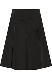 Versace Pleated neoprene skirt