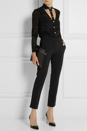 Versace Cutout devoré-silk shirt