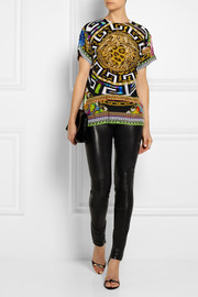 Versace Printed silk top
