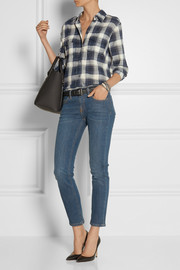Current/Elliott The Perfect plaid cotton shirt