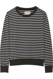 Current/Elliott The Shrunken Jogger striped cotton sweatshirt
