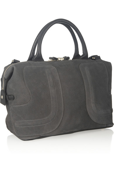 See By Chloé Kay Medium Leather Trimmed Nubuck Tote