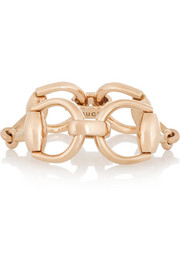 Gucci 18-karat rose gold horsebit bracelet